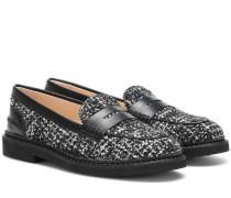 Loafers aus Tweed
