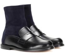Loafer-Boots aus Leder