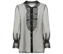 Verzierte Bluse aus Seidenorganza