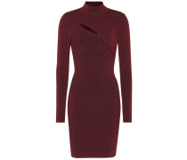 Kleid aus Rippstrick mit Cut-out