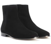 Ankle Boots Duke Flat aus Veloursleder