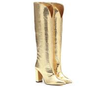 Stiefel aus Metallic-Leder