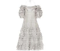Off-Shoulder-Kleid aus Leinen und Seide