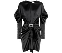 Verziertes Kleid aus Seidensatin