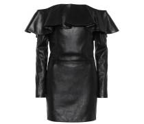 Off-Shoulder-Kleid aus Leder