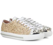 Verzierte Sneakers aus Glitter