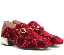 Loafers GG aus Samt