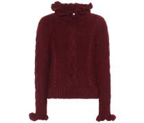 Pullover aus Wolle mit Volants