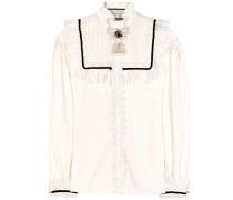 Bluse aus Baumwolle mit Spitze