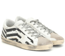 Sneakers Superstar aus Leder