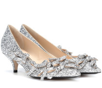 Kittenheel-Pumps mit Glitter