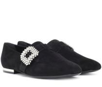 Loafes Mini Diadem aus Veloursleder