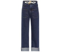 High-Rise Jeans Toggle