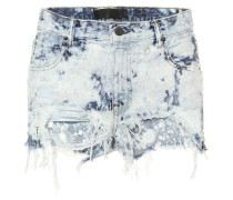 Distressed Jeansshorts aus Baumwolle
