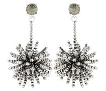 Ohrringe mit Metall-Perlen