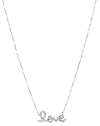 Halskette Love aus 14kt Weißgold mit Diamanten