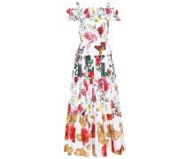 Schulterfreies Kleid aus Baumwolle