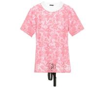 T-Shirt aus Baumwolle mit Spitze