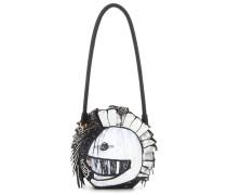 Schultertasche Pallas Helmet aus Leder und Schlangenleder