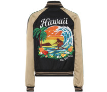 Bomberjacke Hawaii aus Satin