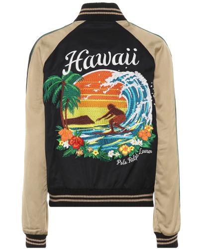 Bomberjacke Hawaii aus Satin