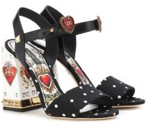 Sandalen aus Cady und Leder