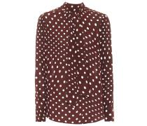 Bluse mit Polka-Dots