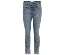 Verzierte Skinny Jeans Karolina