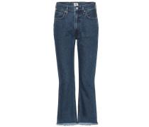 High-Waist Cropped Jeans Estella