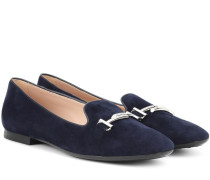 Loafers Double T aus Veloursleder
