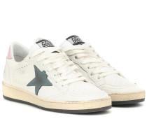 Sneakers Ball Star aus Leder und Satin