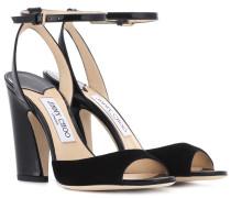 Sandaletten Miranda 100 aus Veloursleder
