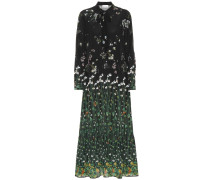Bedrucktes Kleid aus Seide