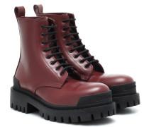 Ankle Boots Strike aus Leder