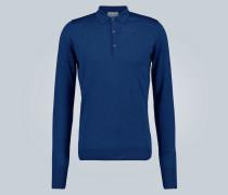 Langarm-Poloshirt aus Wolle