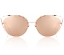 Cat-Eye-Sonnenbrille 668 C3 mit Roségoldauflage