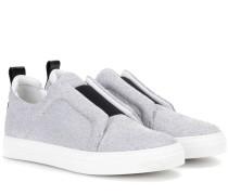Sneakers Slider in Metallic-Optik