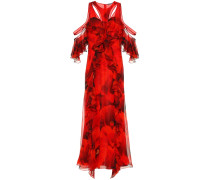 Bedruckte Robe aus Seidenchiffon
