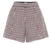 Karierte Shorts aus Wolle