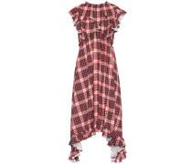 Asymmetrisches kariertes Kleid