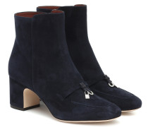 Ankle Boots Charms aus Veloursleder