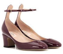 Garavani Blockheel-Pumps Tan-Go aus Lackleder