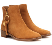 Ankle Boots Louise Flat aus Veloursleder