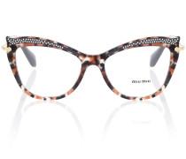 Verzierte Cat-Eye-Brille