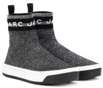 Sock Sneakers aus Metallic-Lurex®