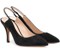 Slingback-Pumps Ringtoes aus Veloursleder