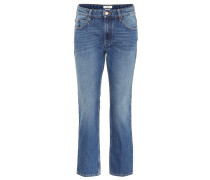 High-Rise Cropped Jeans Caolo