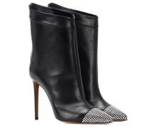 Verzierte Ankle Boots Cha Cha aus Leder