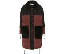 Mantel mit Wollanteil und Shearling