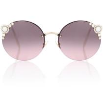 Sonnenbrille Manière mit Kristallen